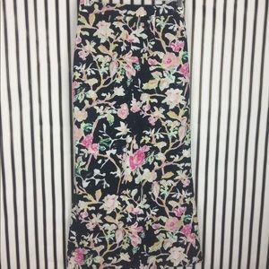 Leifsdottir Anthropologie Floral Long Skirt